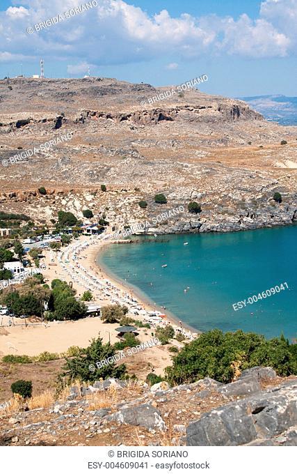Lindos Beach, Rhodes, Greece