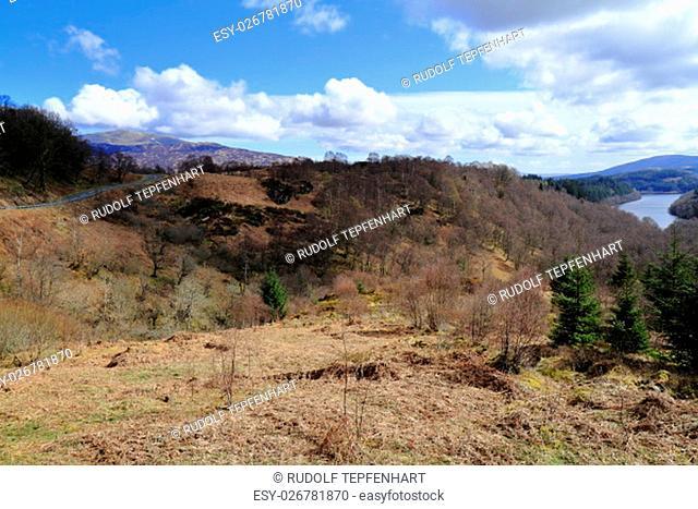 Mountain range in Highland, Scotland, United Kingdom