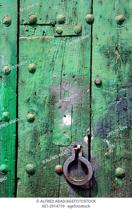 Door, Cervià de Ter, Girona, Catalonia, Spain