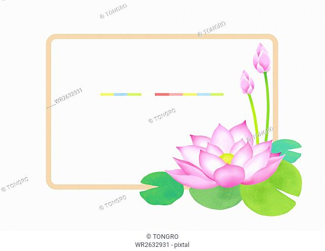 Frame with lotus flowers