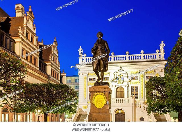 Germany, Saxony, Leipzig, Goethe Memorial on Naschmarkt