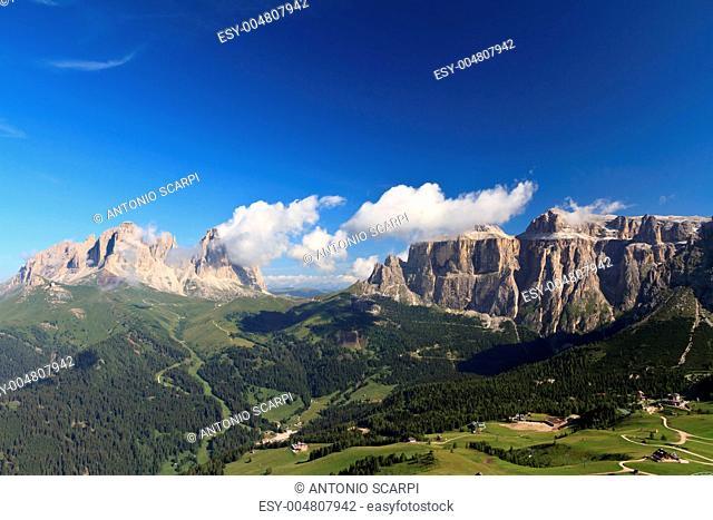 Sella and Sassolungo mountain