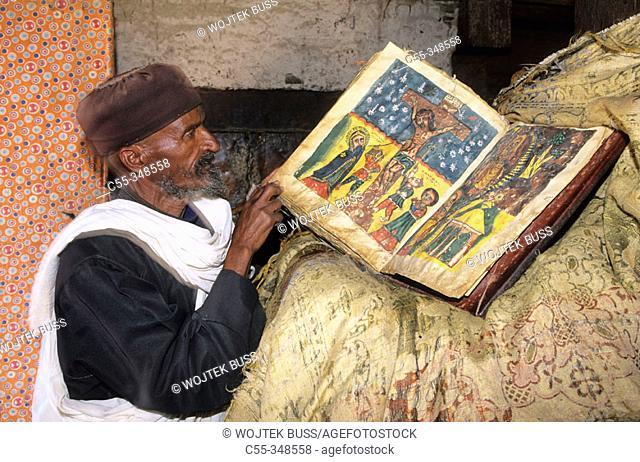 Manuscripts. Debre Damo Monastery. Ethiopia