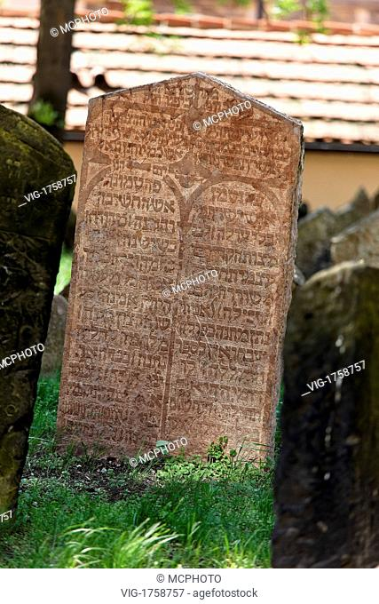 Czech Repuplik, Prague, gravestones at Jewish cemetery - Prag, Tschechien; Tschechische Republik, 31/07/2009