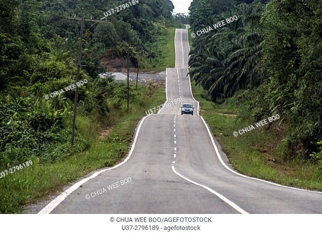 Padawan road, Sarawak, Malaysia