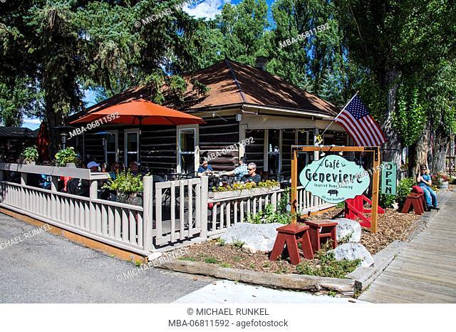 Cafe in Jackson Hole, Wyoming, USA