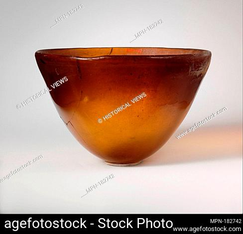 Glass conical bowl. Period: Late Hellenistic; Date: mid-2nd-early 1st century B.C; Culture: Greek, Syro-Palestinian; Medium: Glass