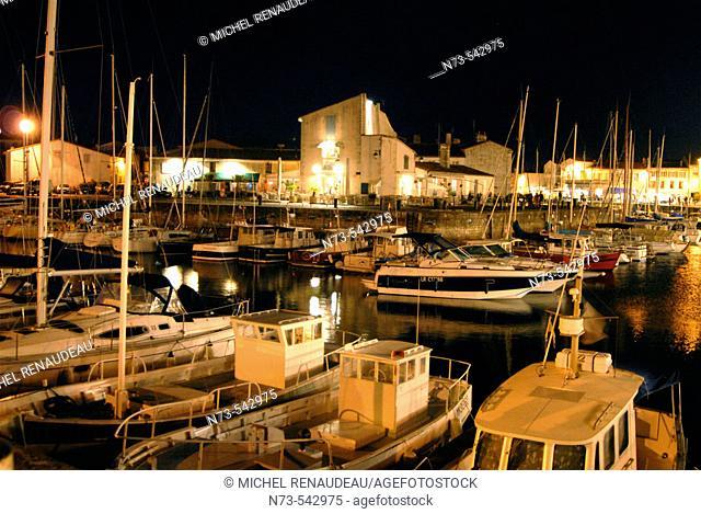 Harbour. Saint-Martin. Ile de Ré. Poitou-Charentes. Charente-Maritime. France