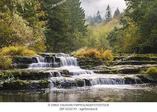 Siuslaw Falls, Siuslaw River, Coast Range Mountains, Oregon
