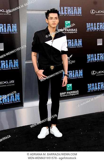 World premiere of 'Valerian and the City of a Thousand Planets' at the TCL Chinese Theatre - Arrivals Featuring: Kris Wu Where: Los Angeles, California