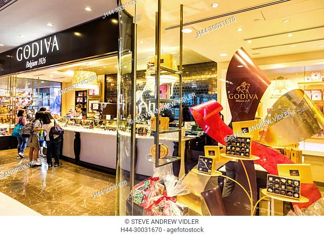 China, Hong Kong, Central, IFC (International Finance Centre), Shopping Mall, Godiva Chocolate Shop