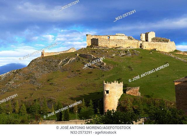 Burgo de Osma, Ciudad de Osma, Castle, Soria province, Castilla Leon, Spain.