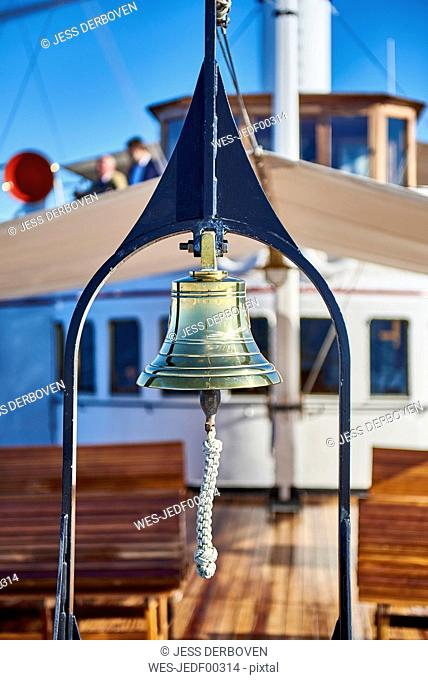 Steam boat Hohentwiel, golden handbell