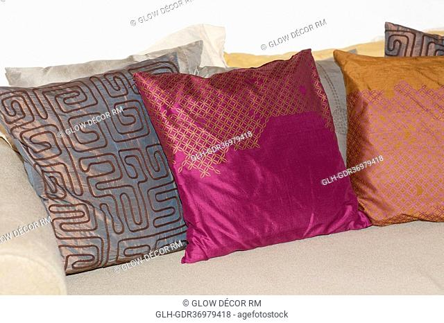 Cushions on a couch
