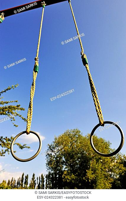 Gymnastic rings outdoors