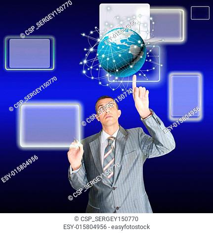 Internet technology concept of global business