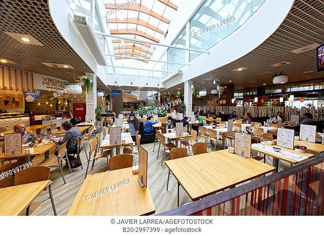 Dining room, Tables to eat, Restaurante Bar Virginia Mendibil Menus & Fast Good, Mall, Centro Comercial Mendibil, Irun, Gipuzkoa, Basque Country, Spain
