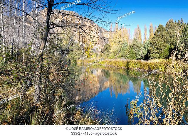 Riaza river. Valdevacas de Montejo. Segovia. Castilla Leon. Spain. Europe