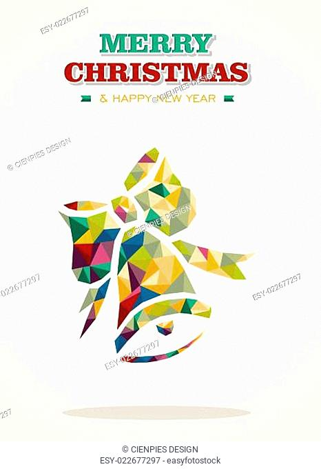 Merry Christmas contemporary triangle greeting card