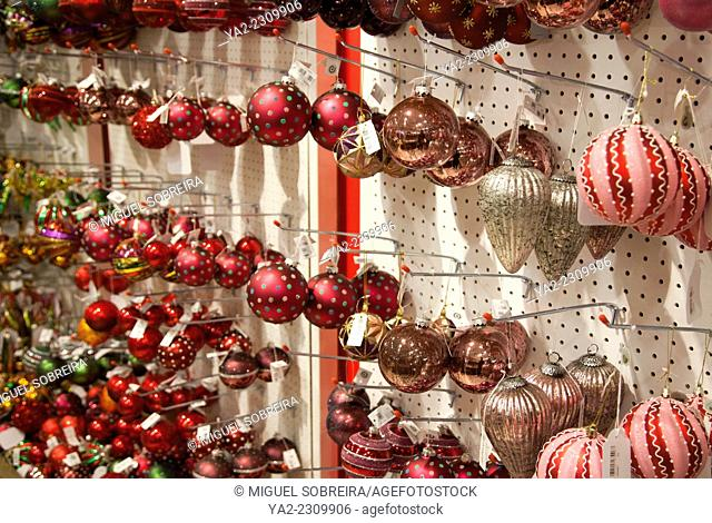 Baubles for sale at Heals on Tottenham Court Road in london UK