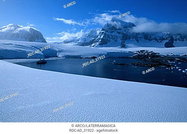 Antarctic coast Port Lockroy Gerlache Strait Antarctica