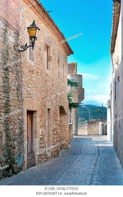 Passageway in Peratallada, Spain