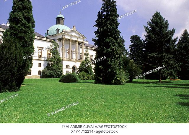 The front facade of chateau in Topolcianky, Slovakia