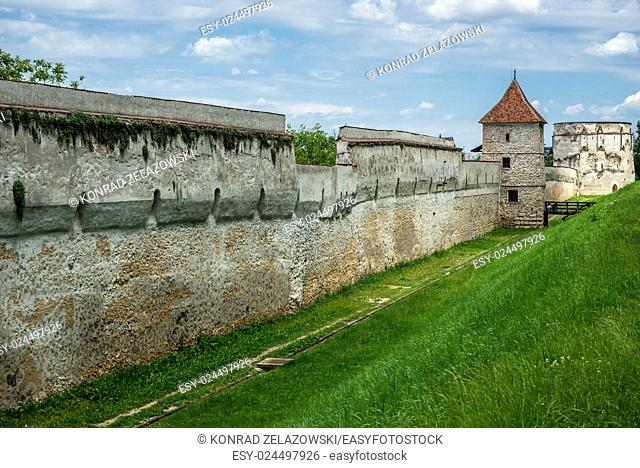 Carpenters tower - part of old walls in Brasov, Romania