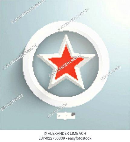 Red Star White Ring
