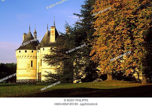 France, Loir et Cher, Loire Valley listed as World Heritage by UNESCO, Chaumont sur Loire, castle with Medieval and Renaissance Style