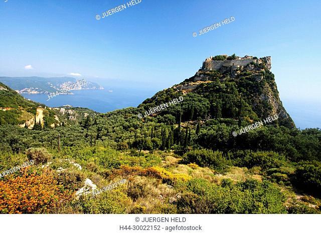 16. century, Berg, byzantinisch, Corfu, culture, EU, Europa, Europaeische Union, europe, greece, greek, Griechenland, Griechische Inseln, hellas, Huegel, Insel