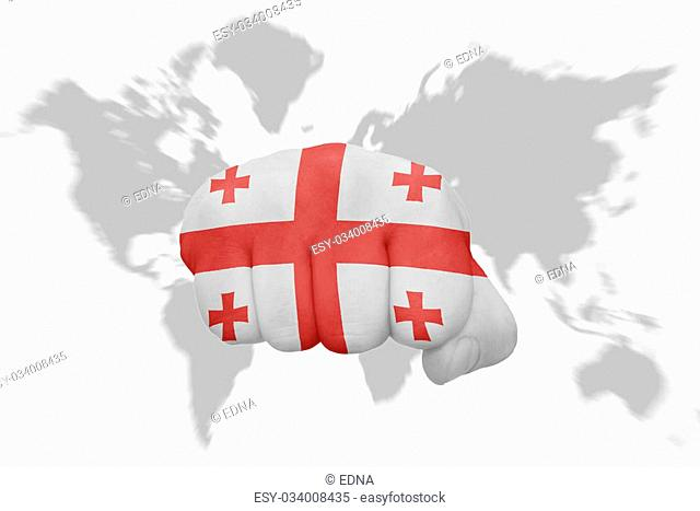 Georgia World Map Stock Photos And Images Age Fotostock