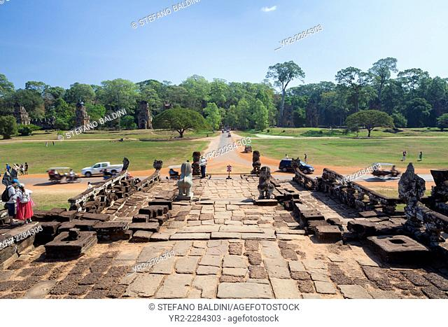 The terrace of the elephants, Angkor Thom, Siem Reap, Cambodia
