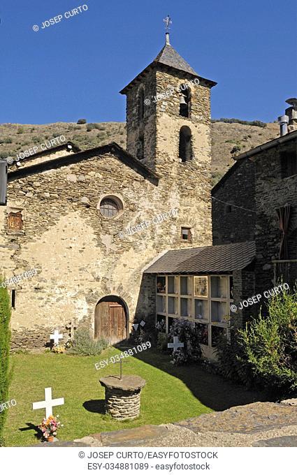 Sant Juli Church, Arros de Cardos, LLeida province, Catalonia , Spain