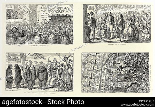 Alarming Sacrifice from George Cruikshank's Steel Etchings to The Comic Almanacks: 1835-1853 (top left) - 1851, printed c