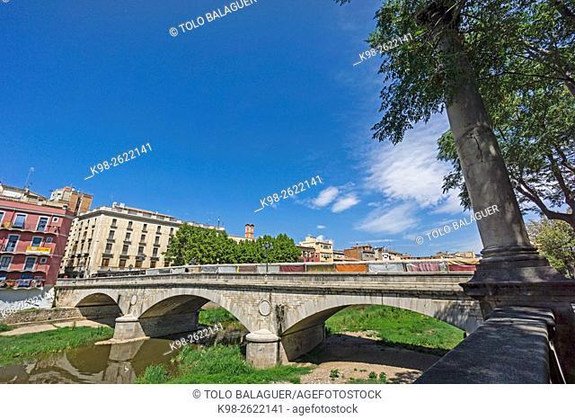 Puente de Piedra, o de Isabel II, Girona, Catalunya, Spain