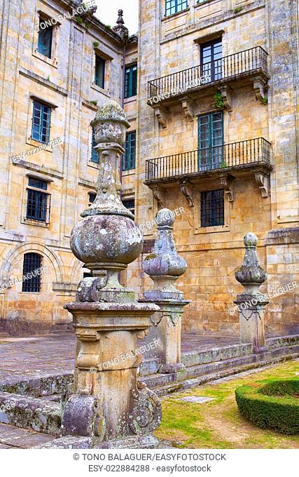 Santiago de Compostela end of Saint James Way San Matino Pinario monastery in Galicia Spain