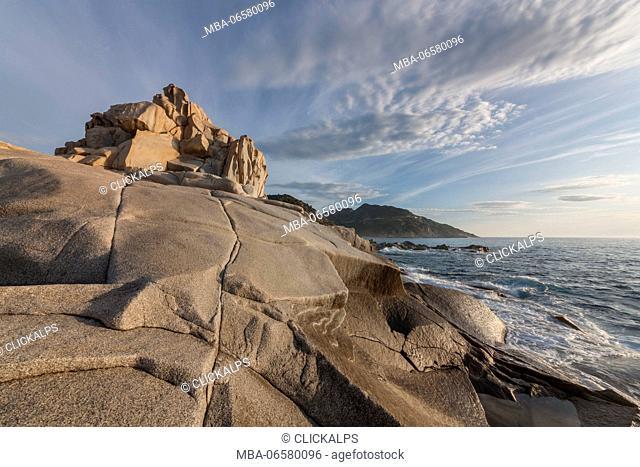 Europe, Italy, Sardinia, Cagliari, Landscape on Punta Molentis, Villasimius