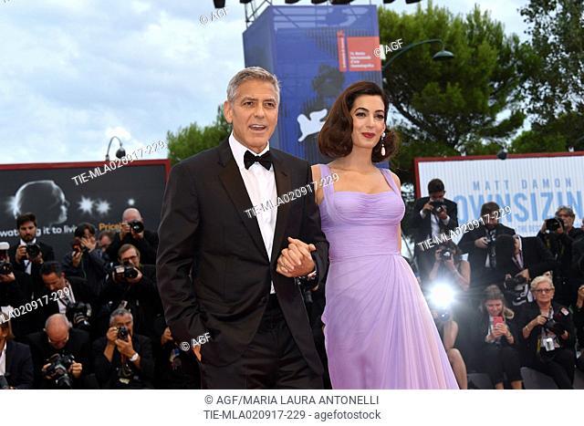 George Clooney, Amal Clooney during 'Suburbicon' premiere, 74th Venice Film Festival, Venice 02/09/2017