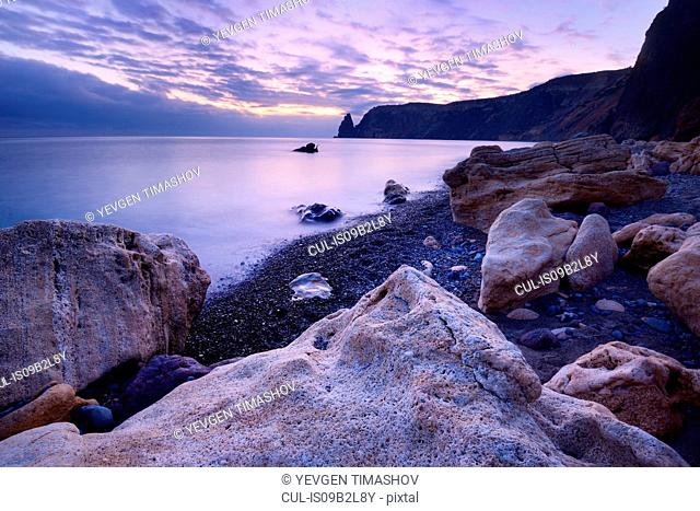 Rock formation from Yashmoviy Beach (Fiolent Beach) near Sevastopol, Crimea, Ukraine