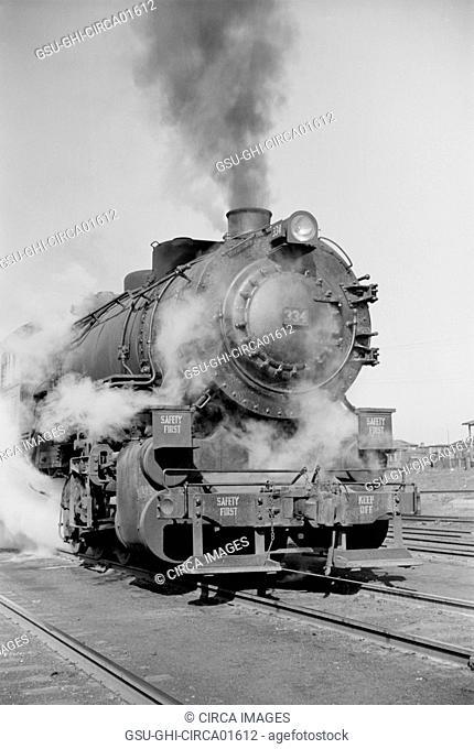 Locomotive Train, St. Louis, Missouri, USA, Arthur Rothstein for Farm Security Administration, January 1939