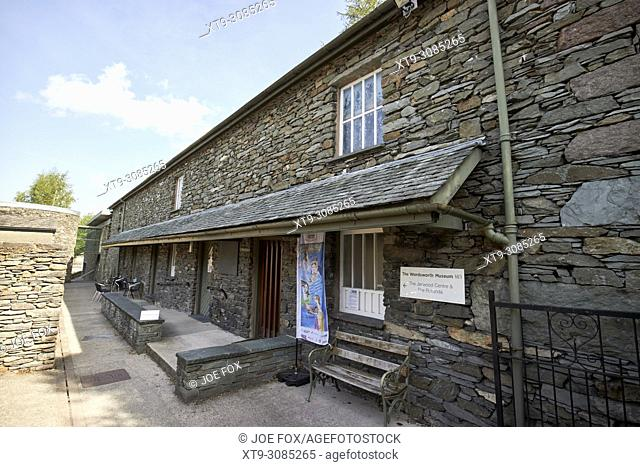 the wordsworth museum in the hamlet of town end near grasmere lake district cumbria england uk