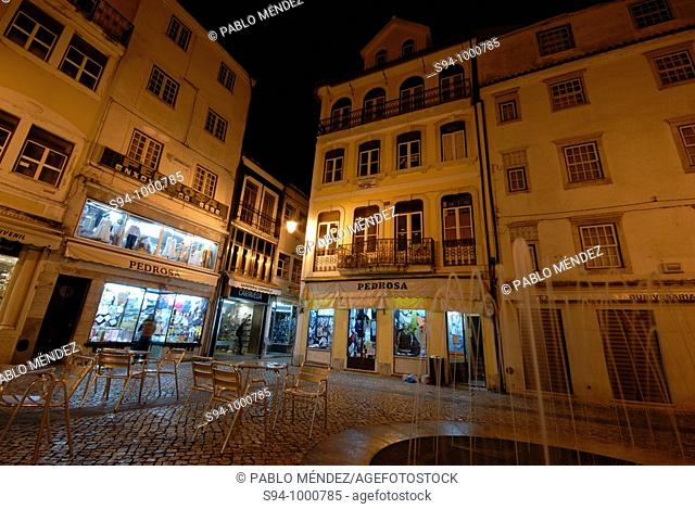 Typical square of center of Coimbra, Portugal