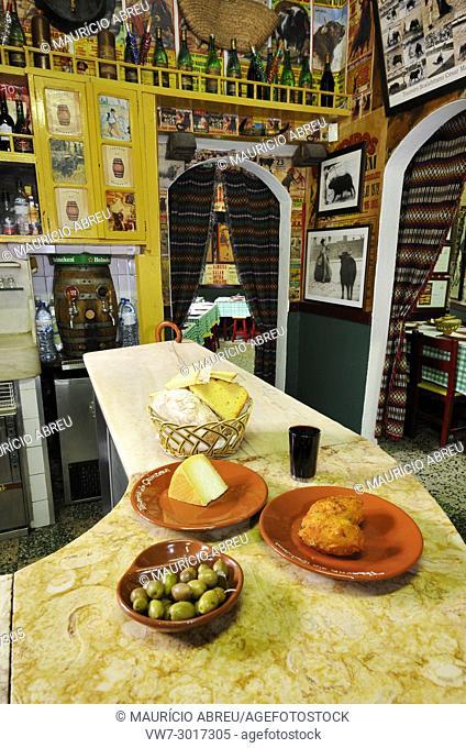 Interior of a tavern. Santarem, Portugal