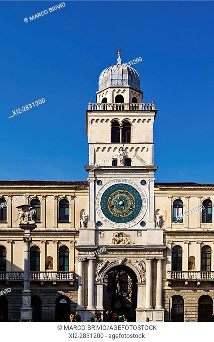 Italy, Veneto, Padua, Piazza dei Signori (Square), the Astronomical Clock Tower