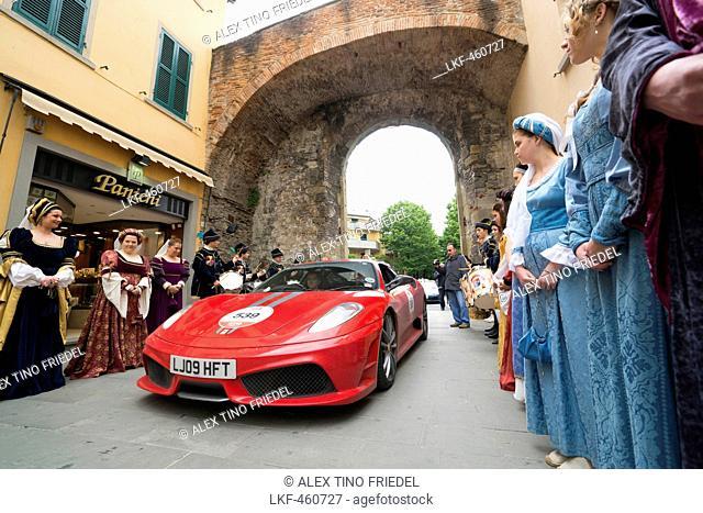 Ferrari 458 Italia, Ferrari Tribute Club, Mille Miglia, 1000 Miglia, Sansepolco, Arezzo, Tuscany, Italy, Europe