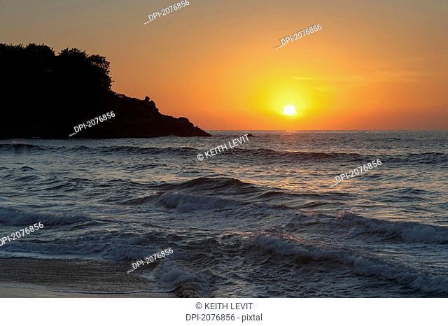 Sunset over the ocean, sayulita mexico