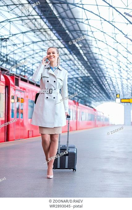 Businesswoman with a suitcase