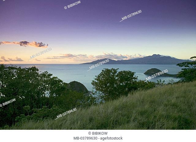 Guadeloupe, island, read of Saintes Iceland, coast, panorama, sunset
