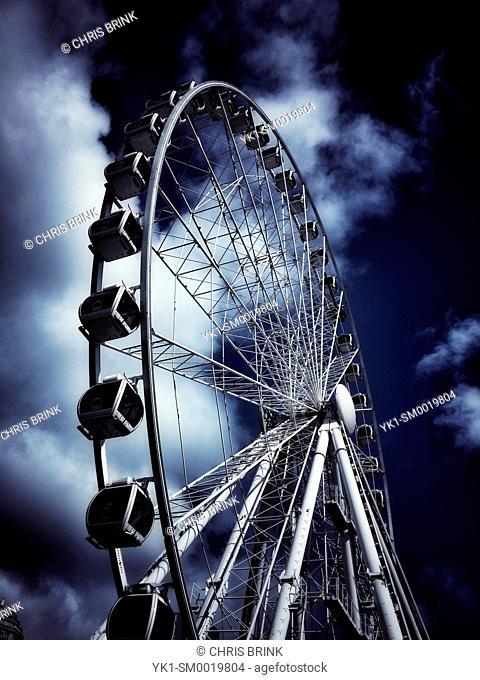 Ferris wheel in Manchester UK